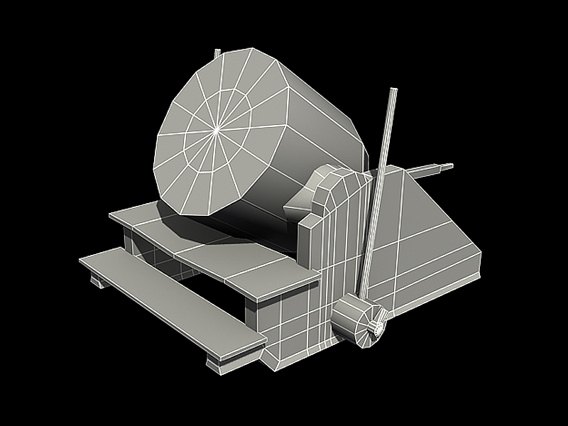 3d Cannon Low Poly