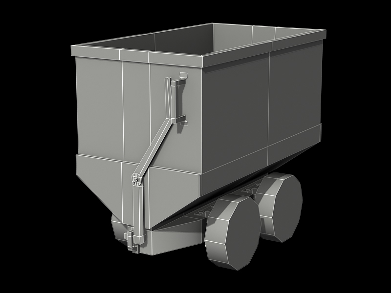 Minecart - Low Poly