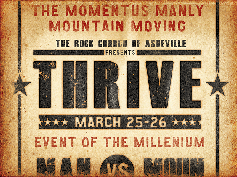 Rock Church Thrive's Men Conference Rough 1