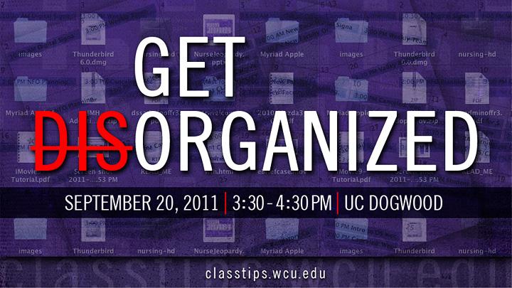 get organized slider