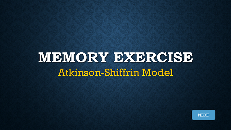 memory exercise title slide