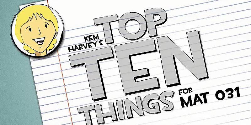 Kem Harvey Top Ten Things Video