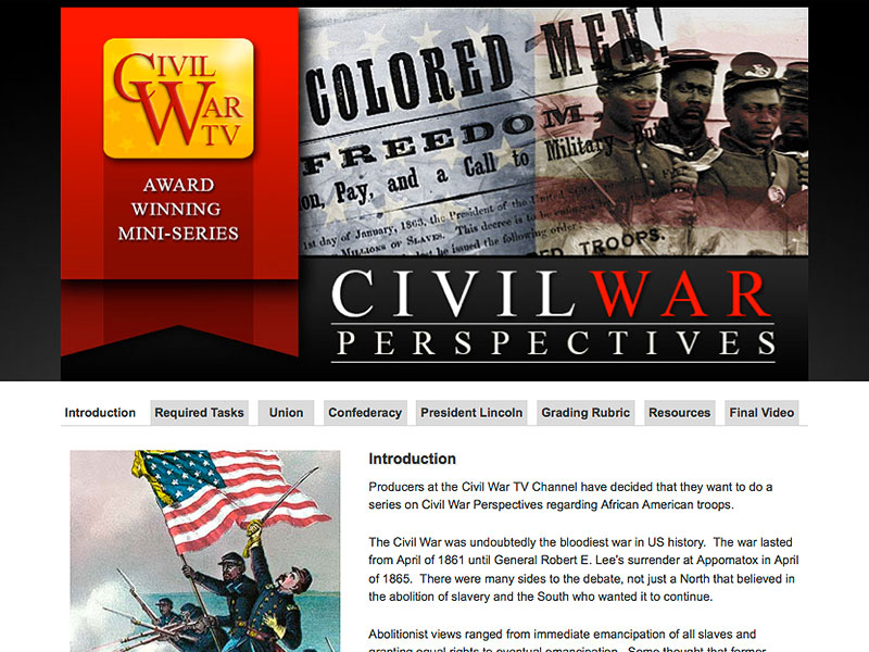 Civil War Perspectives Introduction page