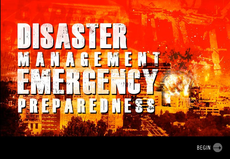 disaster management title screen