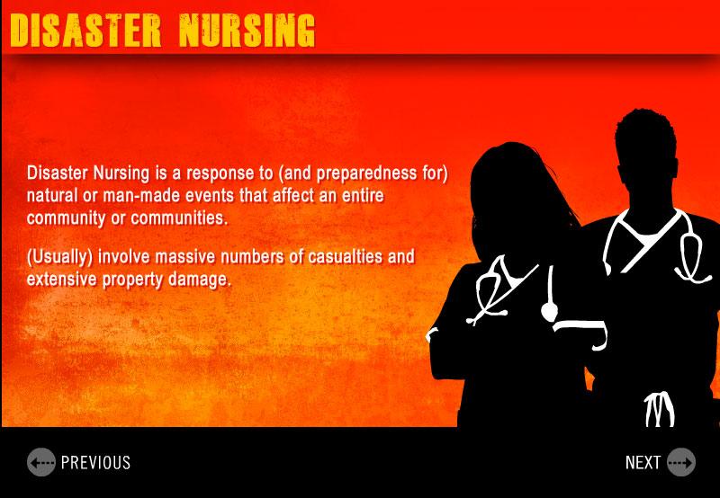 sample slide of role of nursing during disaster