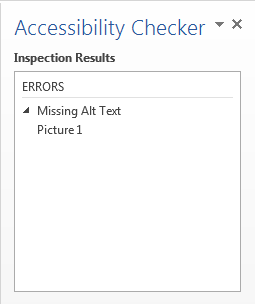 Accessibility listed results and errors