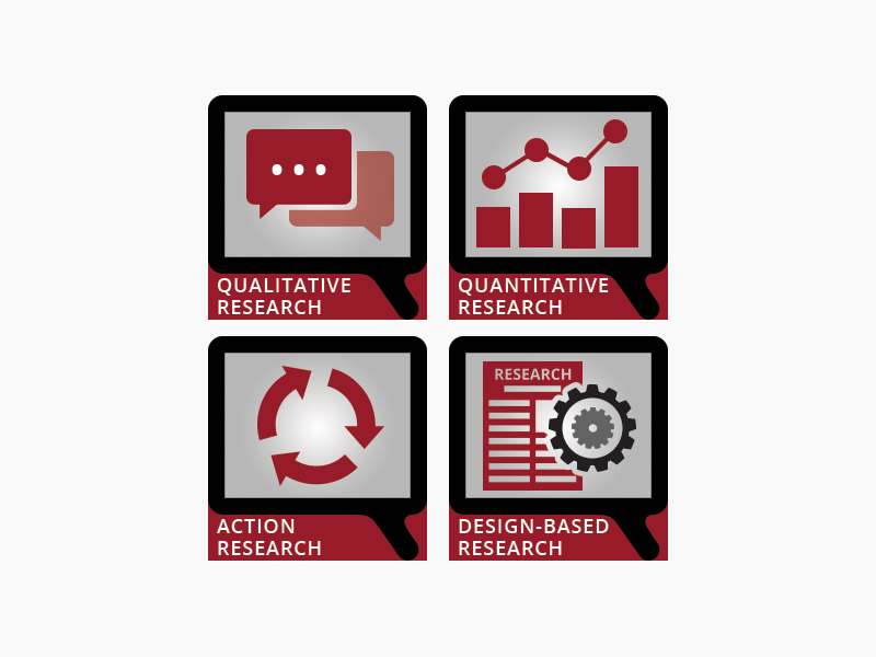 four research icons